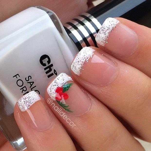11 christmas nail artistic design and style suggestions for 2017 pertaining to pictures of christmas nails 2017